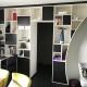 bibliothèque ouvert fermé arrondi rénovation conception mobilier sur-mesure décoration architecture d'intérieur