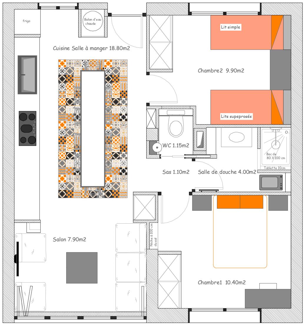 plan agencement aménagement après travaux architecture rénovation nouvelles cloisons architecture d'intérieur