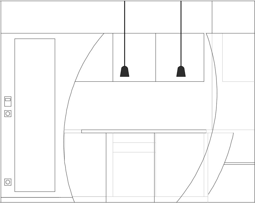 rénovation appartement cuisine sur-mesure cloison cintrée place béton ciré carreaux de ciment agencement architecture d'intérieur décoration conception mobilier sur-mesure