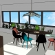 conception vue 3D rénovation appartement sketchuprénovation agencement architecture décoration