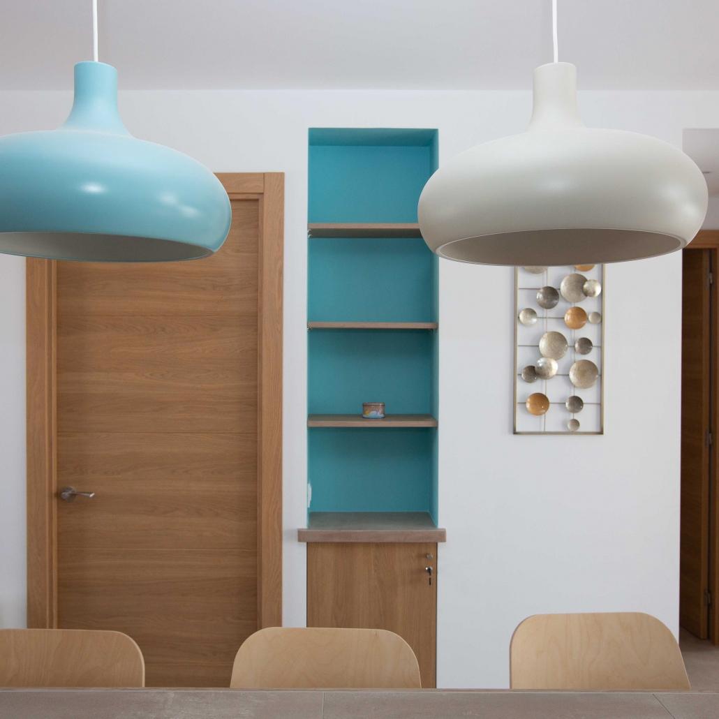 niche peinture luminaire décoration architecture rénovation appartement