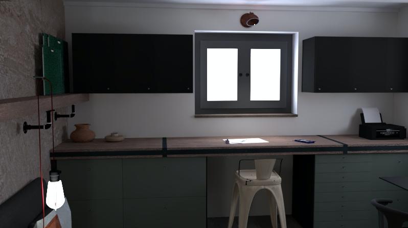 bureau style industriel travaux rénovation architecture d'intérieur designer d'espace design d'intérieur décoration Tolix rangement conception mobilier sur-mesure